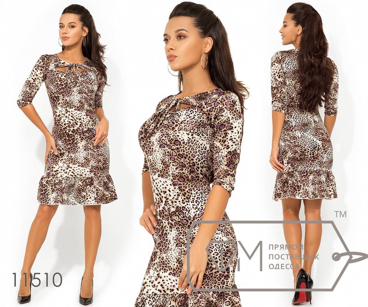 64629351dd6 Платье-миди с леопардовым принтом