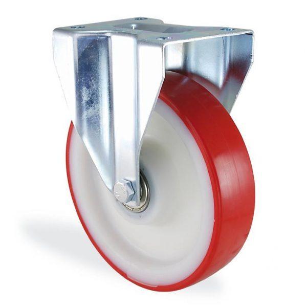 Колесо неповоротное с крепежной панелью из полиамида LARGE 4107-LR-100-B LARGE