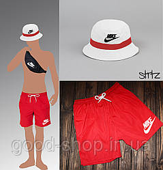 Мужской комплект пляжные шорты + панама + сумочка Nike (люкс копия)