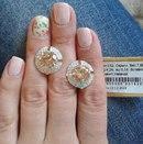 Серебряные серьги с золотыми вставками 152у