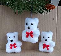 """Прикраса-іграшка """"Білий ведмедик"""" 9 см, фото 1"""