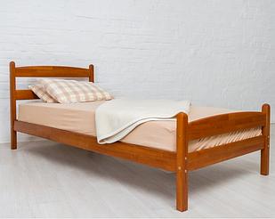 """Кровать односпальная с натурального дерева в спальню/детскую односпальная Олимп """"Лика"""" (80*190)"""