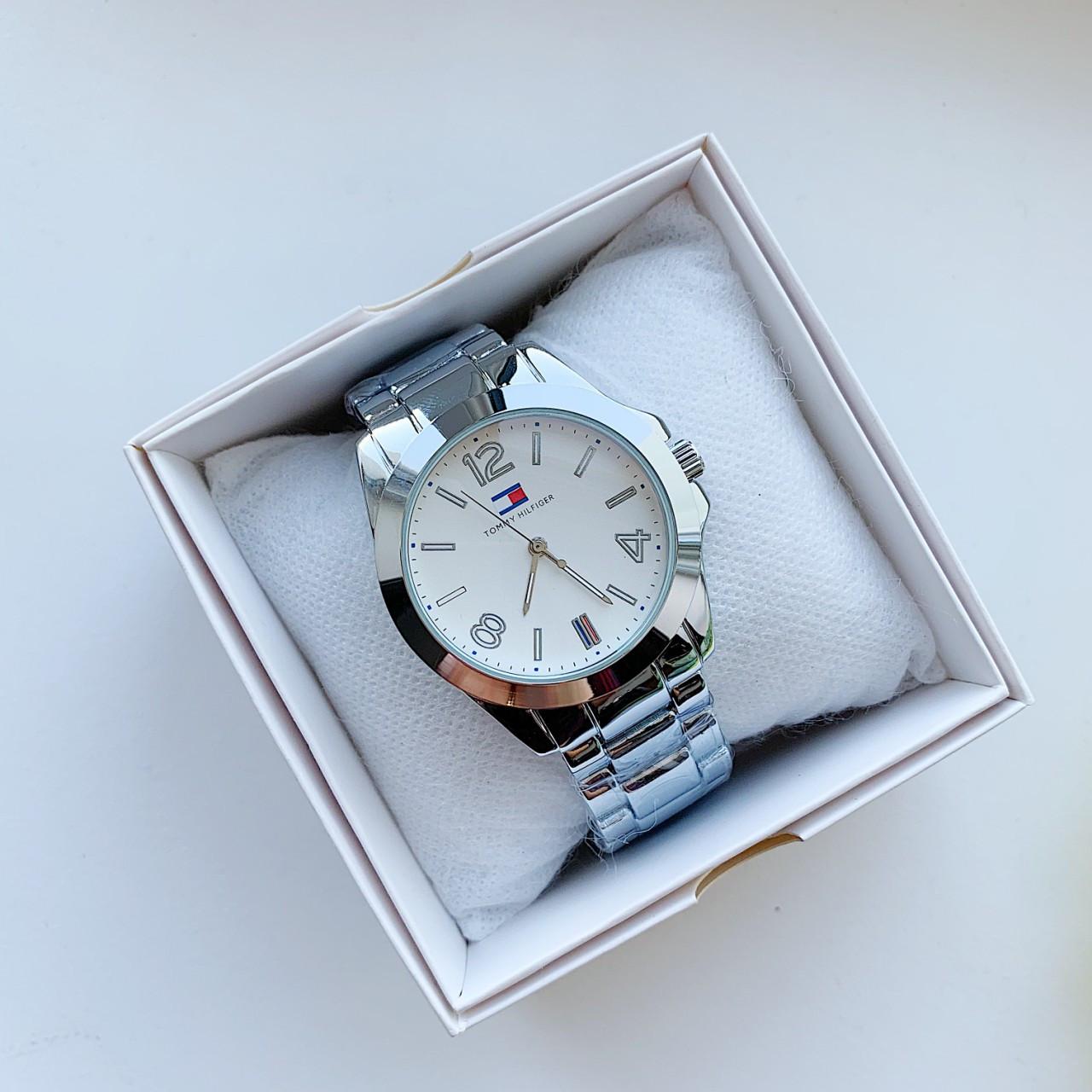 Мужские наручные часы Hilfiger реплика серебро