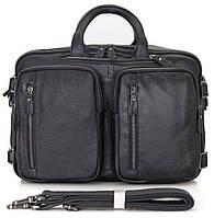 Сумка мужская Vintage 14058 Черная, Черный
