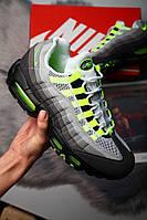 """Мужские кроссовки Nike Air Max 95 OG """"Neon"""" (в стиле Найк Аир Макс) комбинированные, кожа, замш"""