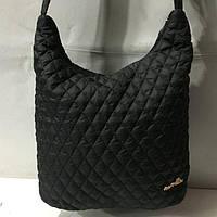 Стеганая женская сумка черная болонья(Дутая сумка)