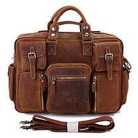 Сумка мужская Vintage 14065 винтажная кожа Коричневая, фото 1