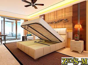 Кровать с подъемным механизмом с мягкой спинкой Zevs-M Барселона 140*190