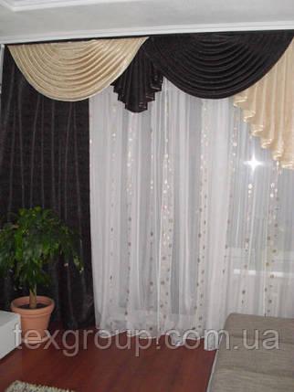Комплект штор в зал из велюровой ткани модель №105, фото 2
