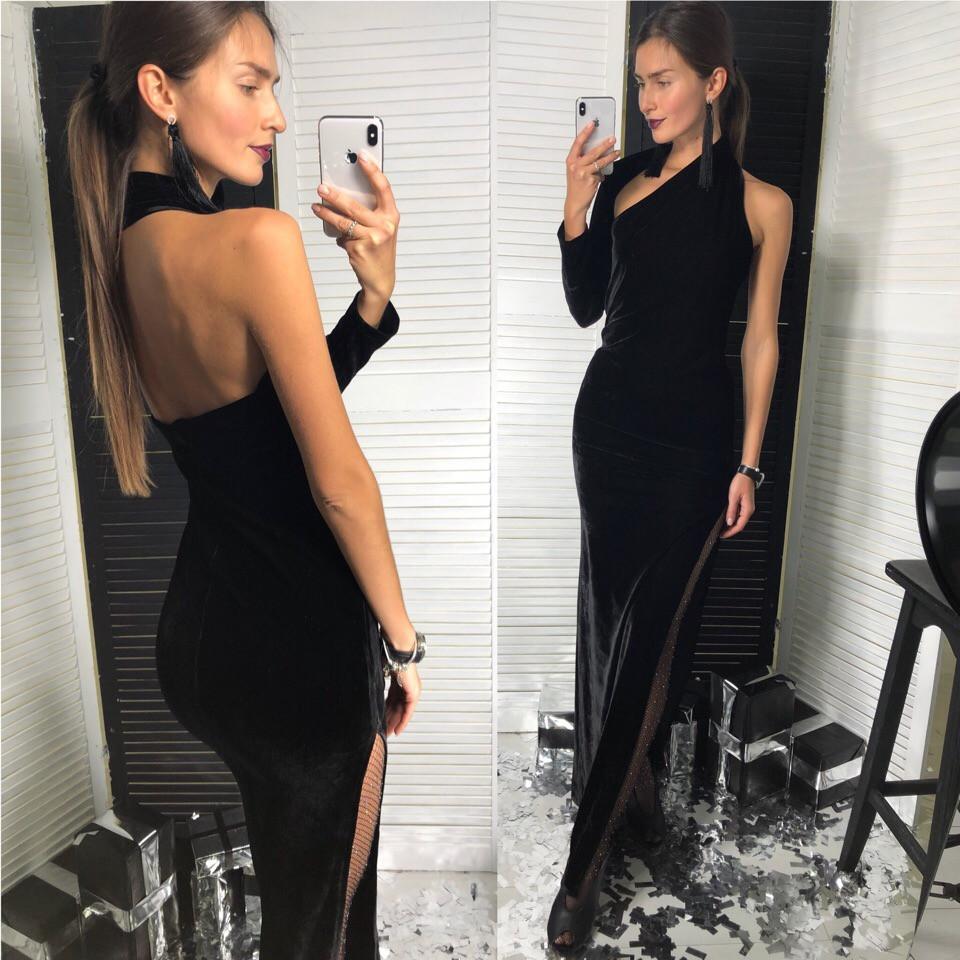 94af93b96f1536e Длинное вечернее платье бархат Лд-1016 - Интернет магазин Valeri в Харькове