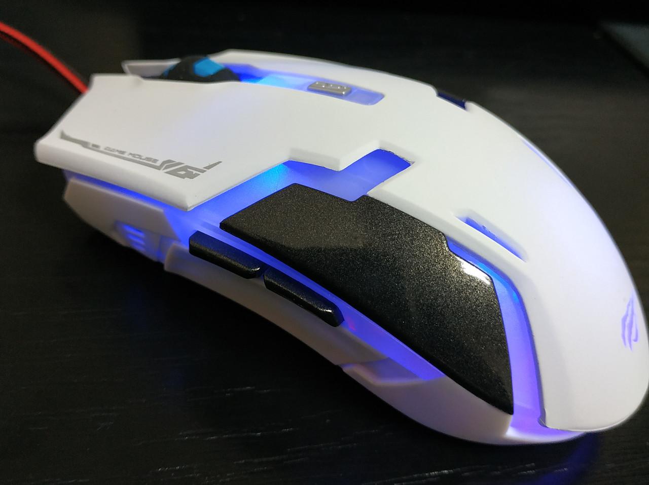 Компьютерная мышка Havit HV-MS749 USB,белая, игровая