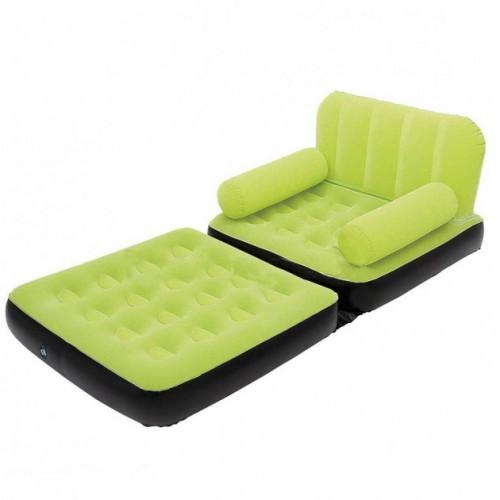 Надувное кресло кровать трансформер Bestway 67277 Green