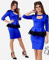 Платье нарядное баска с вырезом в расцветках 26252, фото 1