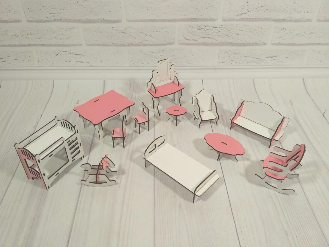 Набор мебели для маленьких кукол 1102. 12 предметов