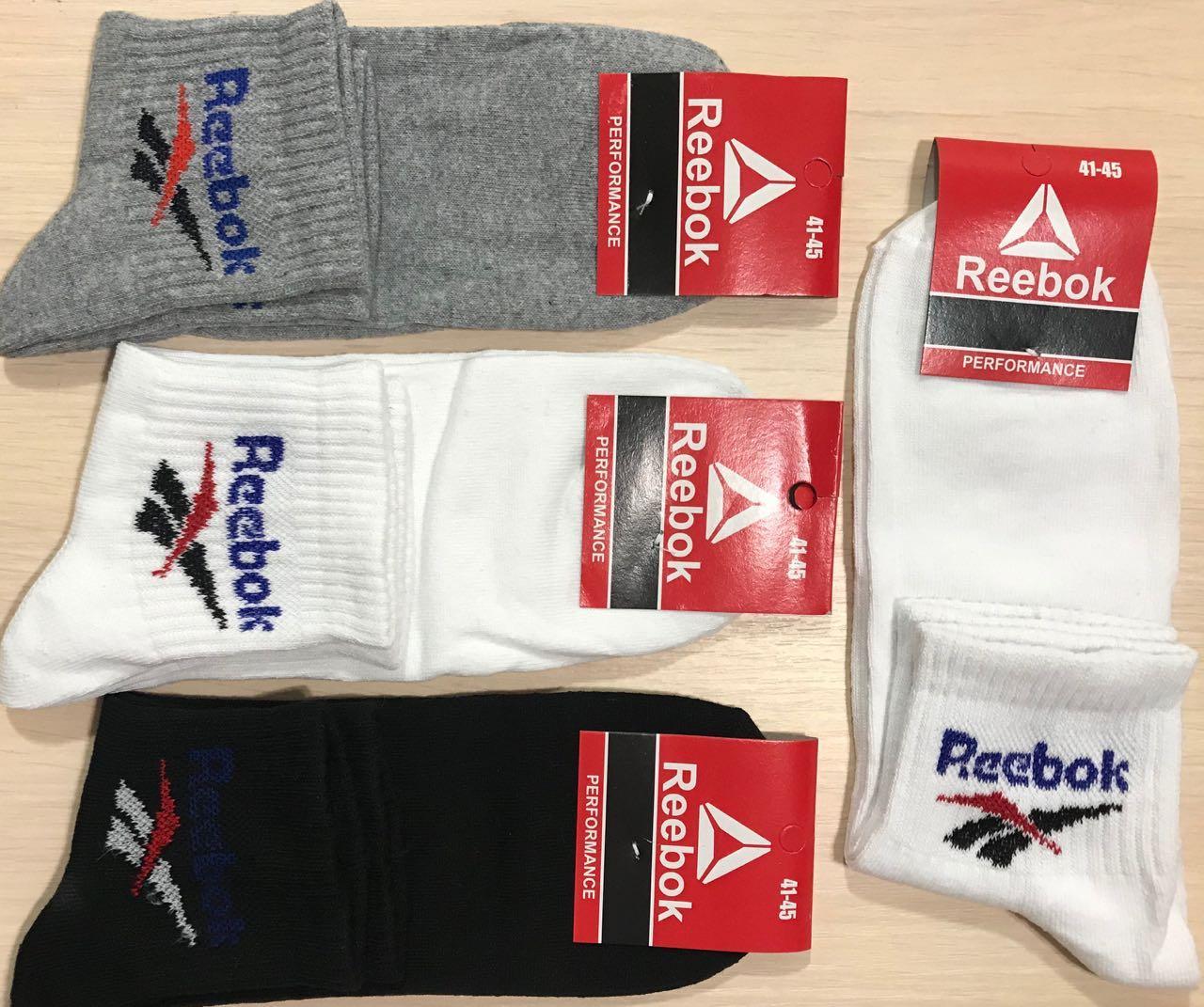 Носки спортивные демисезонные хлопок Reebok Турция размер 41-45 ассорти