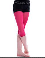 Малиновые укороченные леггинсы для танцев гимнастики хореографии хлопок