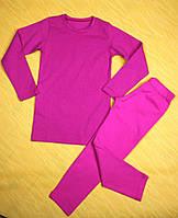 Малиновый термо комплект футболка с длинным рукавом леггинсы Faro Giardino. термобелье детское