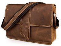 Сумка мужская Vintage 14231 в винтажном стиле Коричневая, Коричневый, фото 1