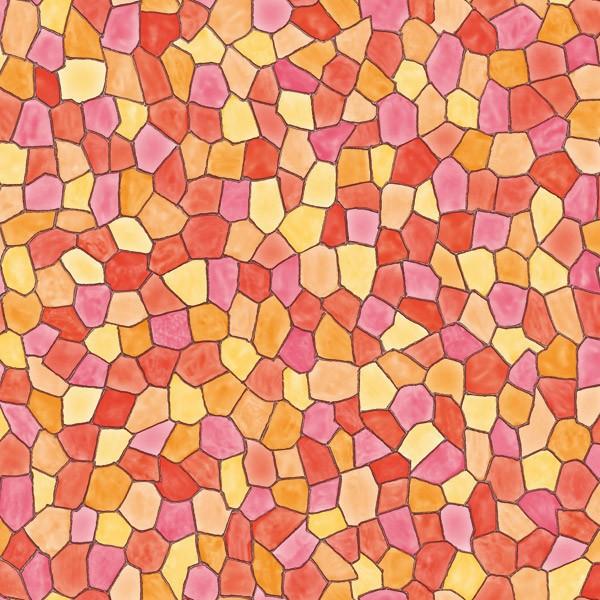 Самоклейка мозаика яркая оранжевый витраж dc-fix германия, 67,5 cm, ограниченное количество