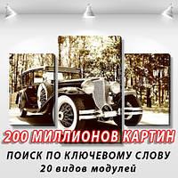 Модульная картина, холст, Авто, 60x90см.  (40x25-2/60x35)