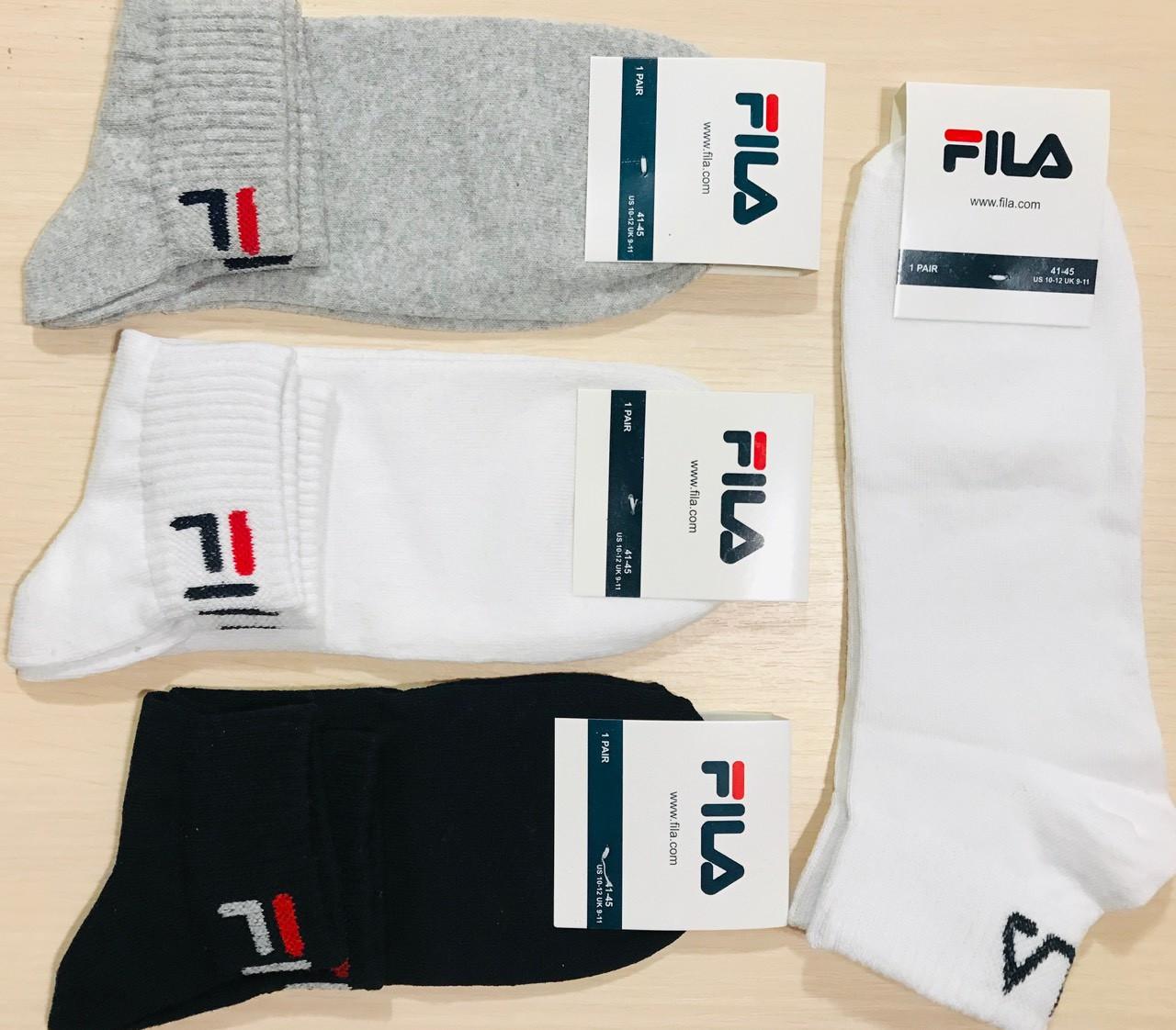 Носки спортивные демисезонные хлопок FILA Турция размер 41-45 ассорти