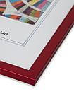 Рамка а4 из пластика - Красный металлик - со стеклом, фото 2