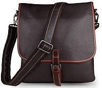 Сумка мужская Vintage 14257 Черная, Коричневый, фото 1