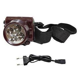 Акумуляторний ліхтарик налобний на 5 світлодіодів ,YJ-1829-5