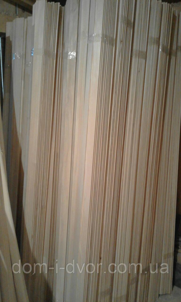 Деревянные наличники(смерека,ель) Прямой Евро Плоский Срощеный от Производителя 50*12*2200мм