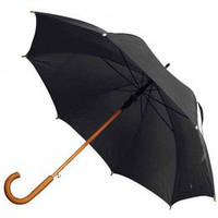 Черный зонт-трость полуавтомат, 9 цветов, с нанесением логотипов, для подарка и в рекламных целях