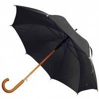 Черный зонт-трость полуавтомат, 9 цветов, с нанесением логотипов, для подарка и в рекламных целях, фото 1