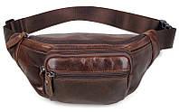 Поясная сумка Vintage 14422 Коричневая, Коричневый, фото 1