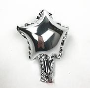 Шар звезда фольгированная, СЕРЕБРО  - 13 см (5 дюймов)