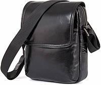 Сумка мужская Vintage 14470 кожаная Черная, Черный, фото 1