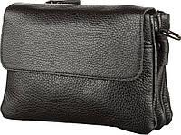 Мужская сумка SHVIGEL 11038 кожаная, Черная, Черный, фото 1