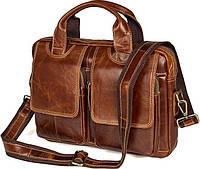Сумка мужская Vintage 14517 кожаная Коричневая, Коричневый, фото 1
