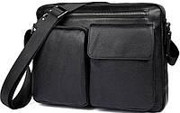 Сумка мужская Vintage 14521 кожаная Черная, Черный, фото 1