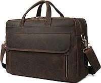 Сумка для ноутбука Vintage 14522 кожаная Коричневая, Коричневый, фото 1