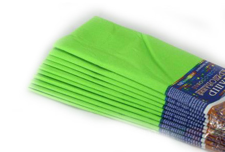 Креп бумага гофрированная (10листов одного цвета)