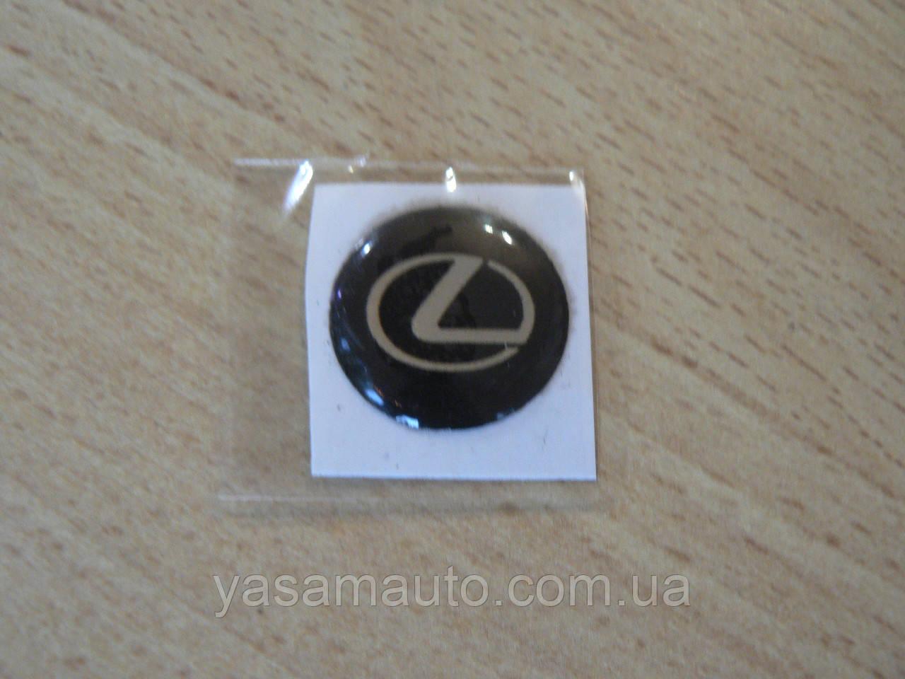 Наклейка s круглая Lexus 20х20х1.2мм силиконовая эмблема логотип марка бренд в круге на авто Лексус