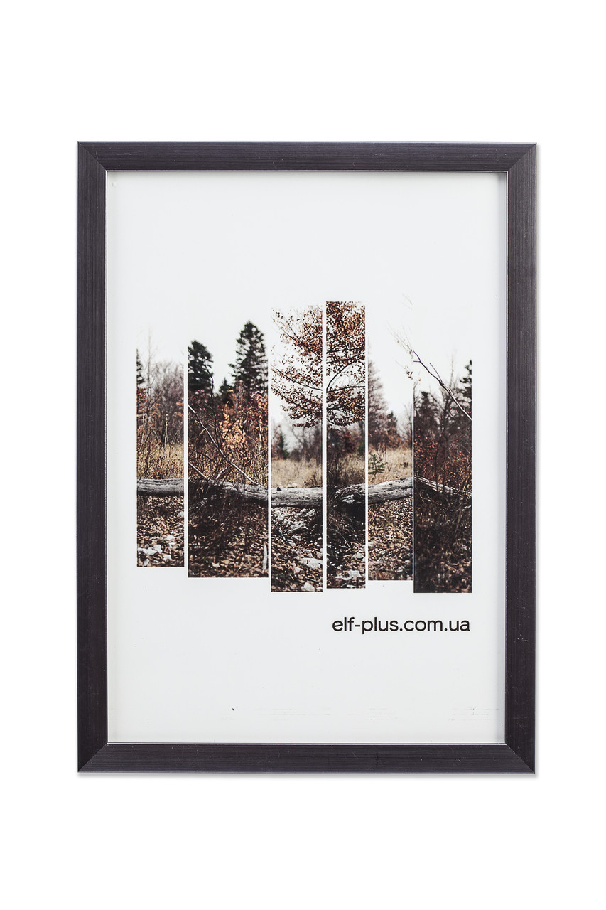 Рамка а4 из пластика - Серая, тёмный графит, металлик - со стеклом