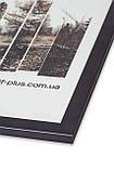 Рамка а4 из пластика - Серая, тёмный графит, металлик - со стеклом, фото 2