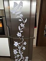 Декоративные наклейки на стену Бабочка с цветами   (0842535), фото 1
