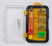 Набор Hoshe 8816 отвертка  с 15 насадками и плектором  в футляре