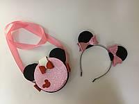 Комплект Минни Маус: сумочка и ободок, фото 1