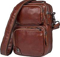 Сумка Vintage 14543 из натуральной кожи Коричневая, Коричневый, фото 1