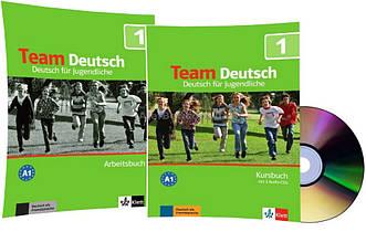 Немецкий язык / Team Deutsch / Kursbuch+Arbeitsbuch+CD. Учебник+Тетрадь (комплект с диском), 1 / Klett