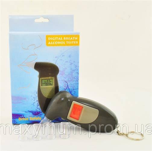 Цифровой алкотестер Digital Breath Alcohol Tester с ЖК-дисплеем и сменными мундштуками.