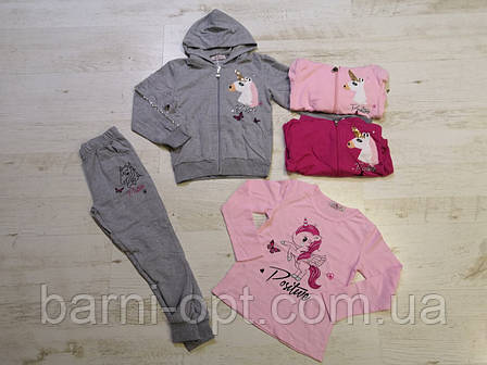Трикотажні костюми для дівчаток, Seagull, 4-12 рр, фото 2