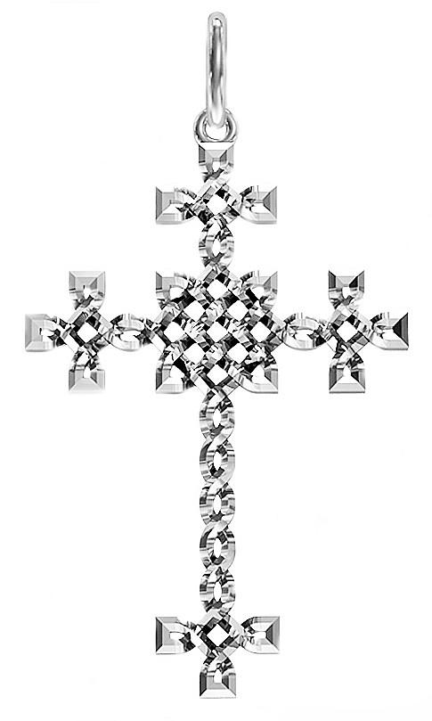 Крест серебряный Плетенка 411 750